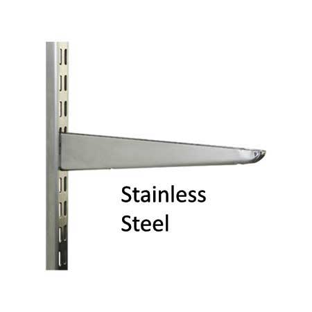 Stainless Steel Twin Slot Shelving